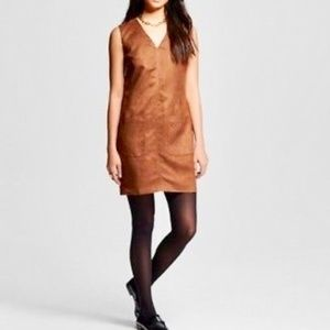 Mossimo Supply Co Faux Suede Dress in Brown Size M
